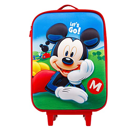Mickey Mouse Let's Go-Maleta Trolley Soft 3D