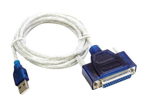 iZuga USB to Printer DB25 25-Pin Parallel Port Cable Adapter