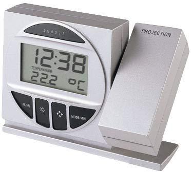 Technoline Reloj de proyección, Plata y Negro, 12.3x4.2x9.1 cm, WT 590
