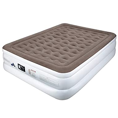 Etekcity Air Mattress Blow Up Raised Guest Durable Firm Bed Inflatable Airbed with Built-in Electric Pump, Easy Setup Height 18 /22'' Twin Queen Size, Storage Bag, 2-Year Warranty