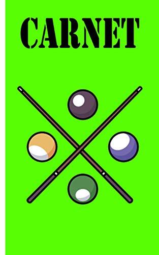 Carnet - billard: Planificateur | Journal | Bloc-notes | Copybook | cadeau parfait pour les joueurs de billard | cahier à carreaux avec motif billard | Taille 5