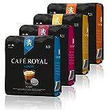 Café Royal Variety Pack 144 Kaffeepads kompatible mit Senseo, 4 Kaffee Sorten - Lungo, Lungo Forte, Espresso, Espresso Forte (4 x 36 Pads)