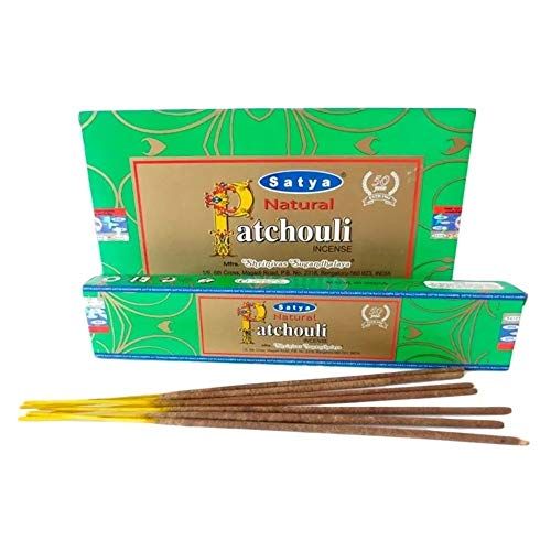 Incenso Nag Champa Satya Natural Patchouli Cx.12 un.15g