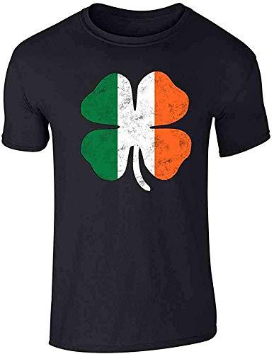 Novedad St Patricks Day Camisa divertida de trébol verde irlandés gráfica camiseta para los hombres de verano creativo Tops 3 M