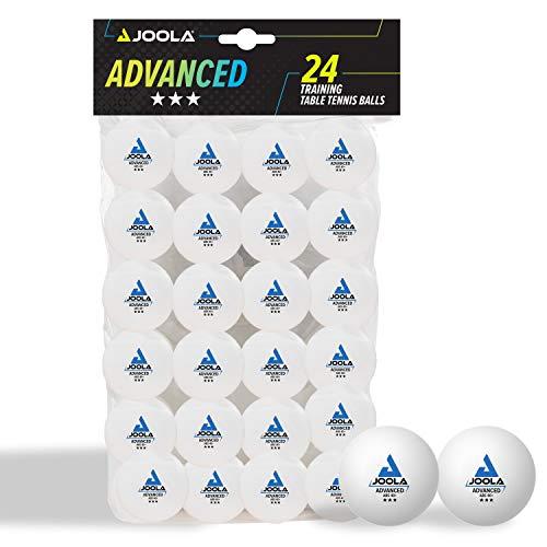 JOOLA Pelotas de Ping Pong (3 Estrellas, 40 mm de diámetro, 24 Unidades), Color Blanco