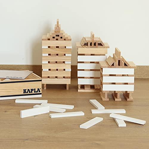 Kapla 8034 Holzplättchen 40-Teilig in Box Weiß - 5