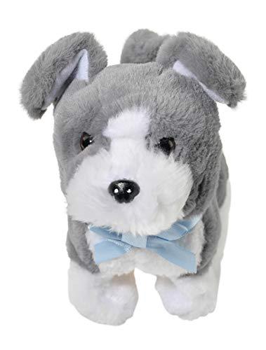 Home-X Grey Schnauzer, Electric Dog Toys, Interactive Pets, Stuffed Animals