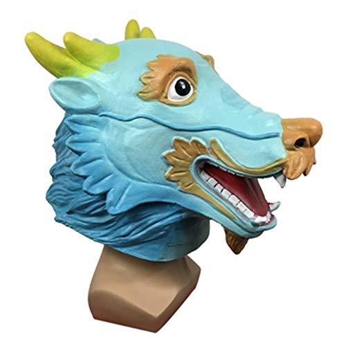 POOO Mscara de dragn Chino, tocados de Animales para Fiestas de Disfraces, Accesorios de actuacin Chinos para Fiestas navideas