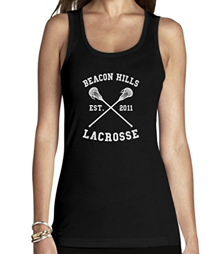 Shirtgeil Teen Beacon Hills Lacrosse Wolf Damen Schwarz Small Tank Top