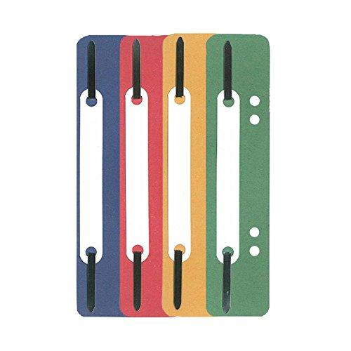 Heftstreifen Aktendulli 100 Stück aus Recycling-Karton farbsortiert je 25x blau, gelb, grün und rot heften und ordnen