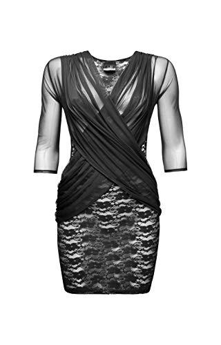 Noir Handmade Clubwear Damen-Kleid aus Tüll Partykleid Größe X-Large