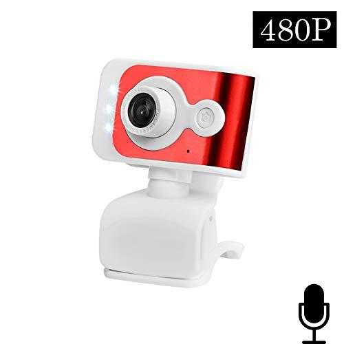 NIMIFOOL Webcam Camera 480P / 720P high-definition driver-free met microfoon licht compensatie geschikt voor PC/laptop/Mac online chat-onderwijs