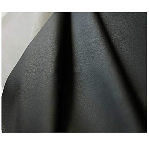 LILAMP Tela de Piel Sintética Negra por Metro Tapicería Material Texturizado de Alta Resistencia, para Reacondicionamiento de la Funda del Asiento Bolsa Suave Junto A La Cama(Size:1.4x4m)