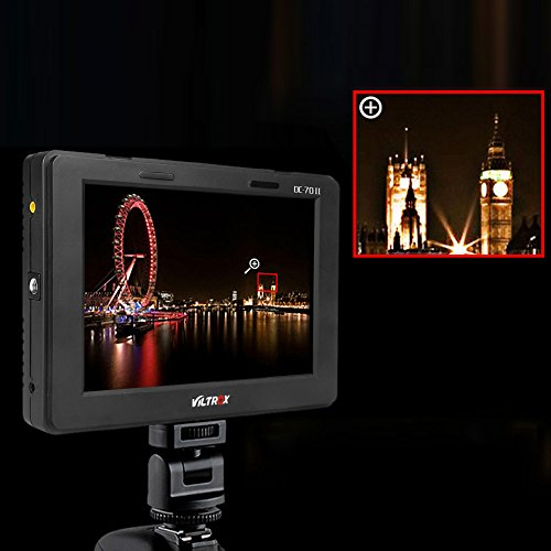 Viltrox DC-70 Clip-on Color 7'' TFT LCD HD Monitor HDMI AV Input 1280 800 for Sony,Canon,Nikon DSLR Camera Camcorder