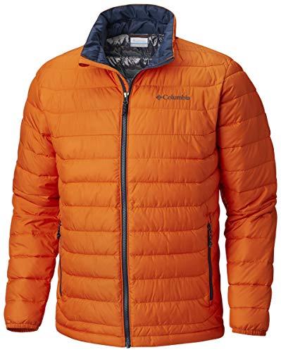 Columbia Men's WO1111 Insulated Jacket, Powder Lite Jacket, Polyester, Orange (Backcountry Orange), Size M