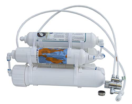 Product Image of the Countertop Portable Universal 5-Stage Reverse Osmosis RO Purification Water System with DI Deionizing Mixed Bed (Close to 0 PPM) postfilter, Build in USA