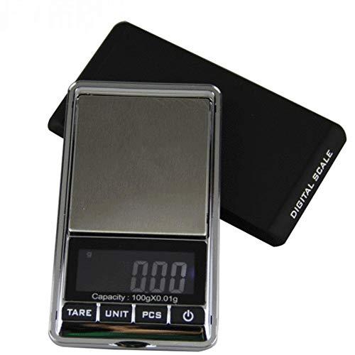 KCD Báscula de joyería Fina de Oro portátil, báscula electrónica 0.01g, báscula Palm Pocket, báscula doméstica Balance (100g / 0.01g)