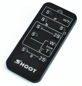 Shoot universal mando a distancia de infrarrojos inalámbrica IR Remote, IR Disparador Remoto Para Nikon/Canon/Pentax/Konica/Minolta/Sony