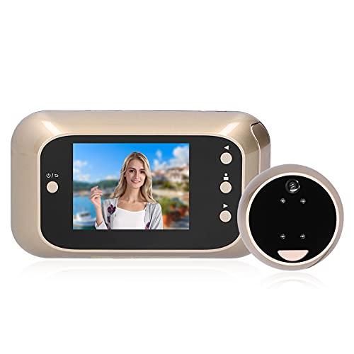Visor de Puerta Digital HD de 3 Pulgadas Zoom Digital 3X Vision Nocturna 1000 Mah Visor de Puerta Anti-Mirilla de Seguridad para Apartamentos CáMara de Mirilla para Puerta de Apartamento