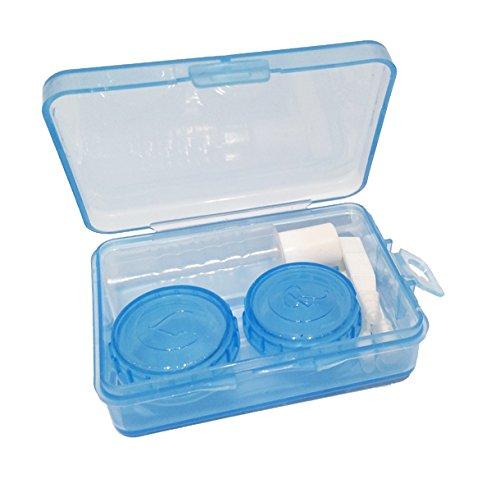 Kontaktlinsen Aufbewahrungsbox für alle Arten von Kontaktlinsen blau