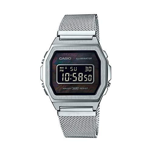 Casio Reloj Digital para Unisex de Cuarzo con Correa en Acero Inoxidable A1000M-1BEF