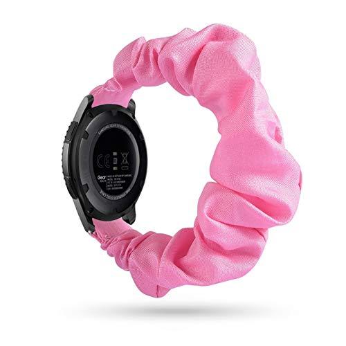 HUIJUNWENTI 20 22mm scrunchies Banda de Reloj elástica para Samsung Galaxy Watch 46mm Active 2 42mm Huawei Watch GT2 Strap Gear Gear S3 (Color : 16, Talla : 20mm)
