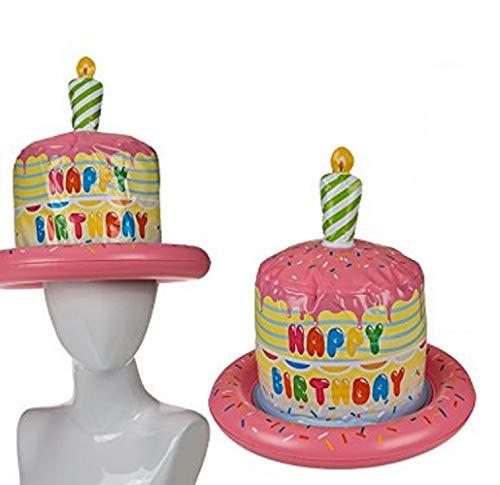 Toyland® Aufblasbarer Happy Birthday Hut mit Geburtstagskuchen und Kerzen Design