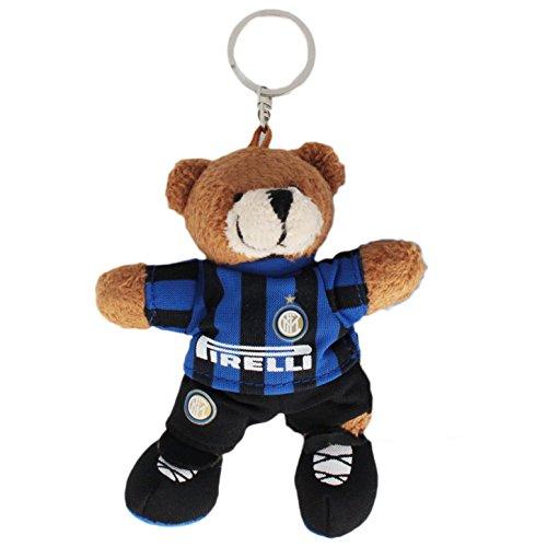 Inter Portachiave con Peluche Ufficiale FC Keyring, NeroAzzurro, 10 cm