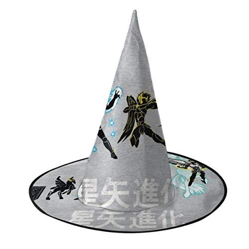 NUJSHF Pegasus Evolution Saint Seiya Caballeros del Zodiaco Sombrero de Bruja Halloween Unisex Disfraz para día Festivo Halloween Navidad Carnaval Fiesta