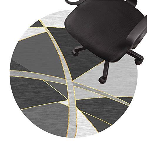 protector suelo silla ruedas Tapete Para Silla De Oficina, Alfombra De Pelo Bajo, Tapete Antideslizante Para Silla, Tapete Protector De Piso Silencioso Para Pisos De Mad(Size:120cm/47in,Color:segundo)