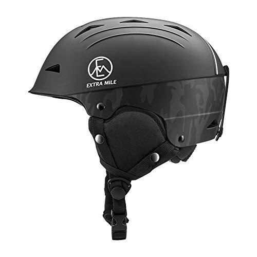 Extra Mile Ski & Snowboard Helmet w/Active Ventilation - EN 1077 Certified Safety, Matte Finish for...