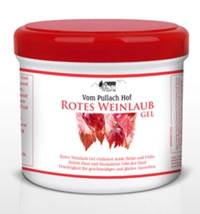 4x Rotes Weinlaub Gel 500ml - vom Pullach Hof, vitalisiert müde Beine und Füsse