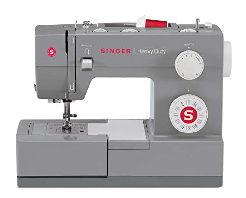 SINGER Heavy Duty 4432 110 Stitch Applications, Metal Frame, Stainless Steel Bedplate Made Easy Sewing Machine, Gray