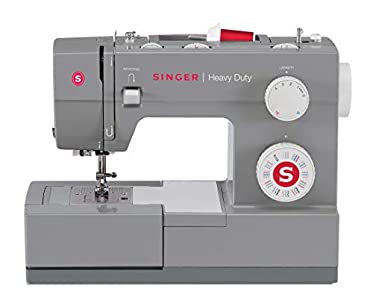 SYS Score: 8.7 SINGER | Heavy Duty 4432 Sewing Machine with 32 Built-in Stitches, Automatic Needle Threader, Metal Frame and Stainless Steel Bedplate, Perfect for Sewing All Types of Fabrics with Ease