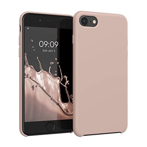kwmobile Custodia Compatibile con Apple iPhone 7/8 / SE (2020) - Cover in Silicone TPU - Back Case per Smartphone - Protezione Gommata Oro Rosa Matt