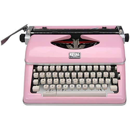 Royal Exclusive 79105Y Classic Manual Typewriter (Pink)