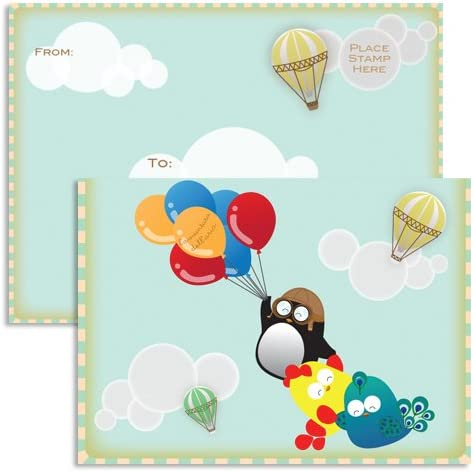 Hot Air Balloon Blank Stationery