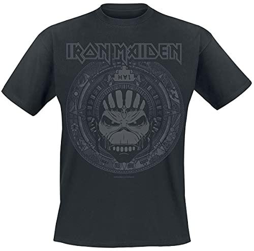 Iron Maiden Book of Souls Skull Männer T-Shirt schwarz XL 100% Baumwolle Band-Merch, Bands, Totenköpfe