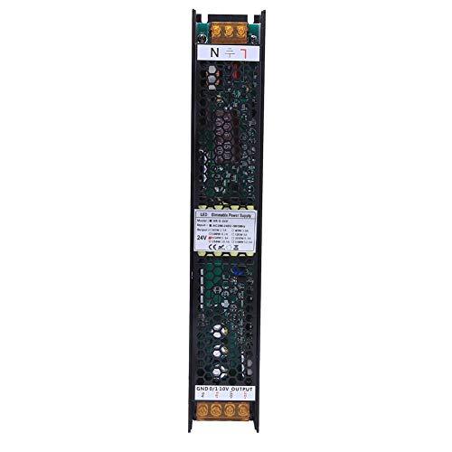 Alimentatore Dimmerabile 150W, Alimentatore Dimmerabile LED Supporto Alta Efficienza SCR 0-10V PWM DALI 4 Metodi di Controllo per Illuminazione a LED(24V 6.3A)
