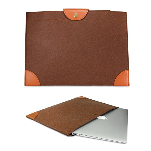 Urcover® Bolso Universal 14,1 Pulgadas, Estuche para Tablet/Ordenador Portátil Funda de Viaje Protección Sleeve - Marrón (iPad MacBook Laptop Notebook Samsung Tab ASUS Acer)