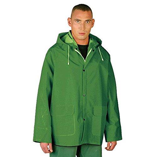 Chubasquero de policloruro de vinilo (PVC) impermeable, Moderno, Unisex adulto, color verde,...