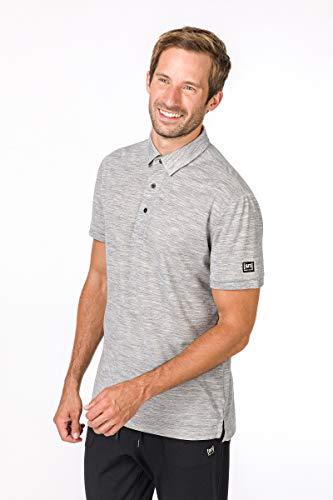super.natural Herren Polo-Shirt, Mit Merinowolle, M ESSENTIAL POLO, Größe: L, Farbe: Hellgrau