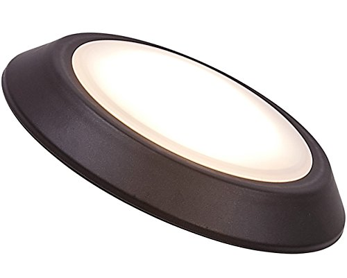 Hamilton Hills New Round Flush Mount Thin Ceiling Light | LED Disc Shaped Thinnest Round Dimmable Lighting Fixture Direct Wire Lights No Drywall Work Required 3000K Bright White 5.5' Oiled Bronze