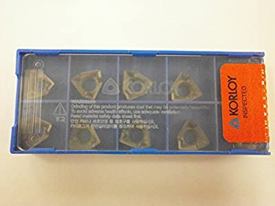 10pc) Korloy XNKT 080508PNSR-MM PC5300 Indexable Carbide Inserts Universal Grade - RM3 Cutter True 90° Perpendicularity
