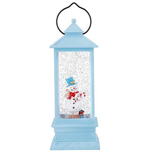 TOPINCN Schneelicht Innovative Laternenform Schneeflocke Lichtdekor Weihnachten Home Tisch Ornament Geschenk(Blauer Schneemann)