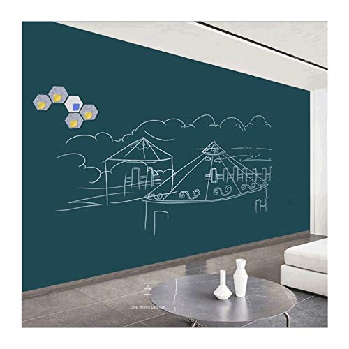 Pizarra de dibujo creativa de doble capa magnética para tablero de dibujo de pared, fácil de escribir y fácil de borrar, para regalo en el hogar (color: verde 60 cm x 90 cm)