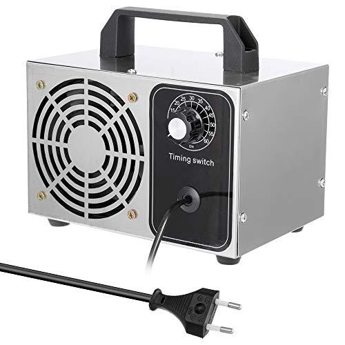KKmoon Generador de Ozono 24g/h,Purificador de Aire,Esterilizador,con Función de Temporización,Ozonizador con Interruptor de Tiempo,con Ventilador Interior