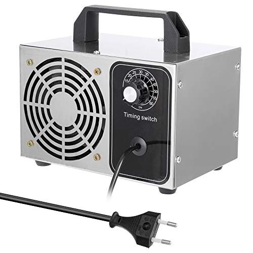 Gecheer 24G Generador de Ozono Portatil, Máquina Tabletas Purificador de Aire Ozonizador con Temporizador, Ozonizador Máquina
