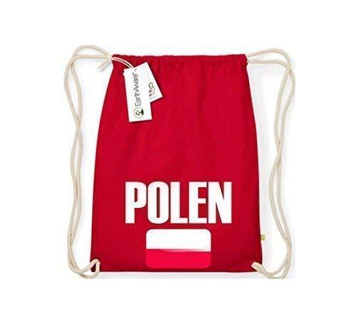 Camiseta stown Organic gymsac Polonia País Países Fútbol, color rojo, tamaño talla única