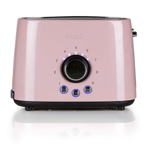 Domo DO952T Edelstahl Pastell Toaster, rosa